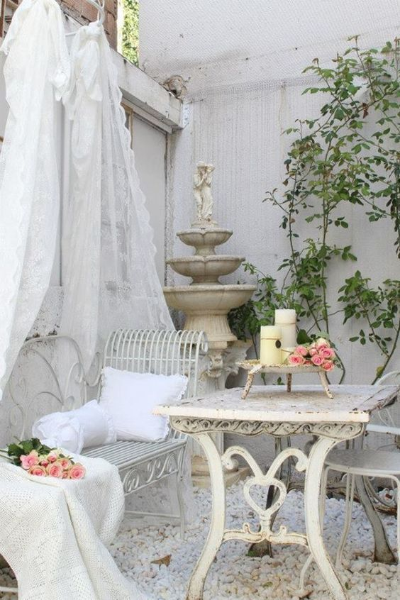 French styled shabby chic fountain  이쁜집  Pinterest  쉐비 시크 및 집안 ...