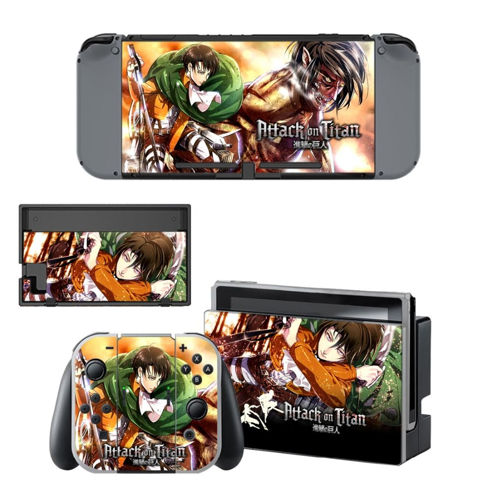 Attack on titan nintend switch skins sticker with images