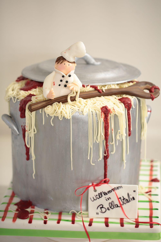 Individuelle Geburtstagstorte Fur Einen Koch Motto Italien Von