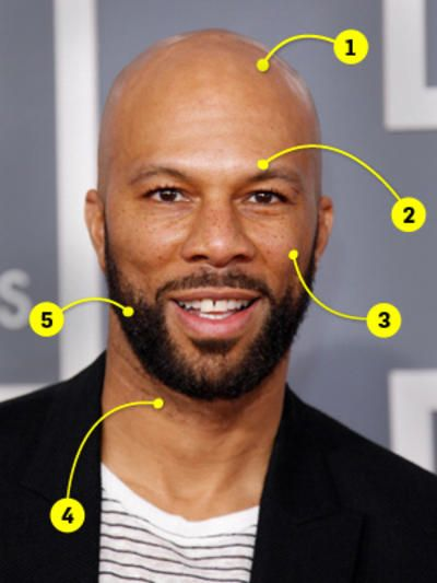 Look And Learn Common  I Love Facial Hair  Bald Men -9819