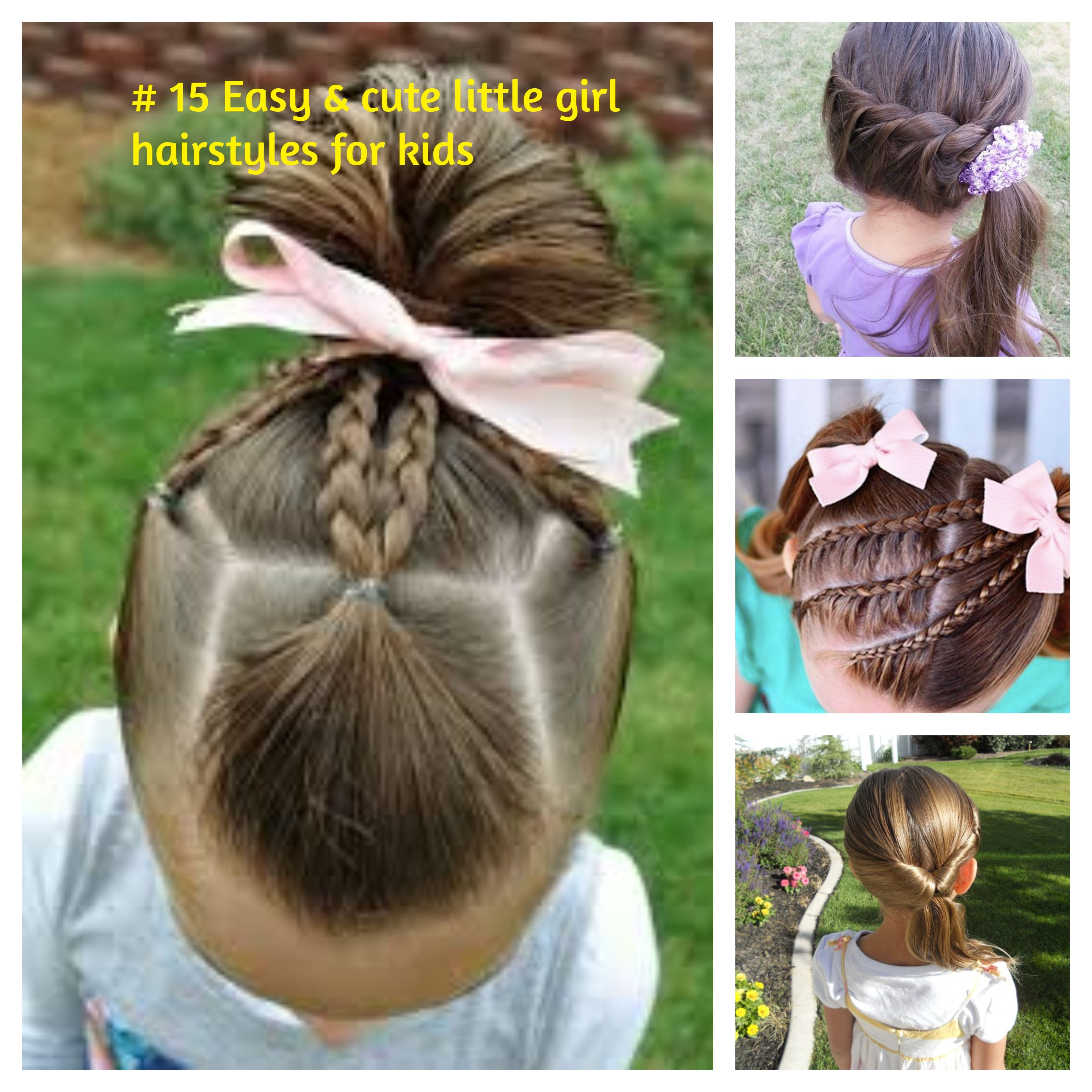 15 easy and cute little girl hairstyle for kids: simple