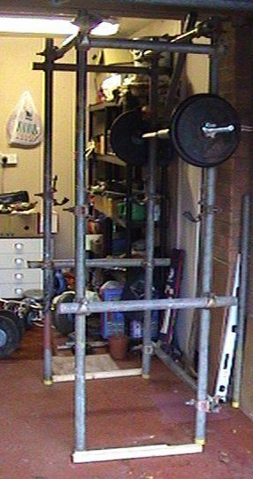 Home made power cage future gym powerlifting power rack