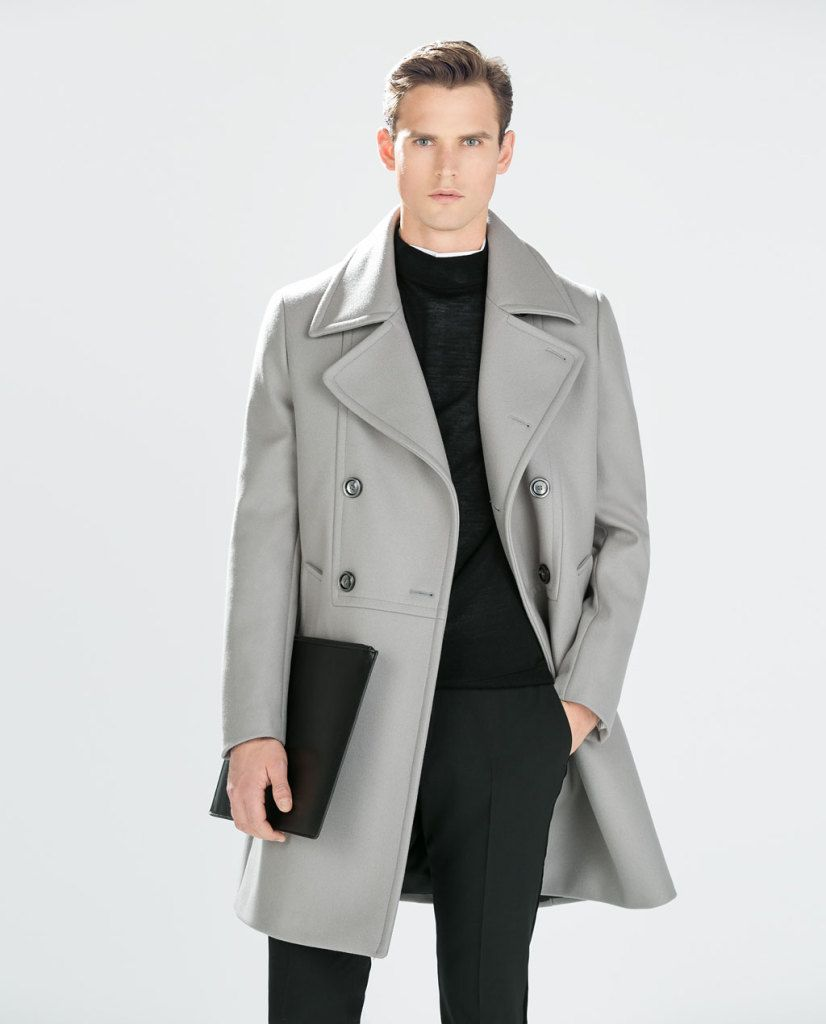 mens style winter coats and jackets menswear fashion zara grey ...