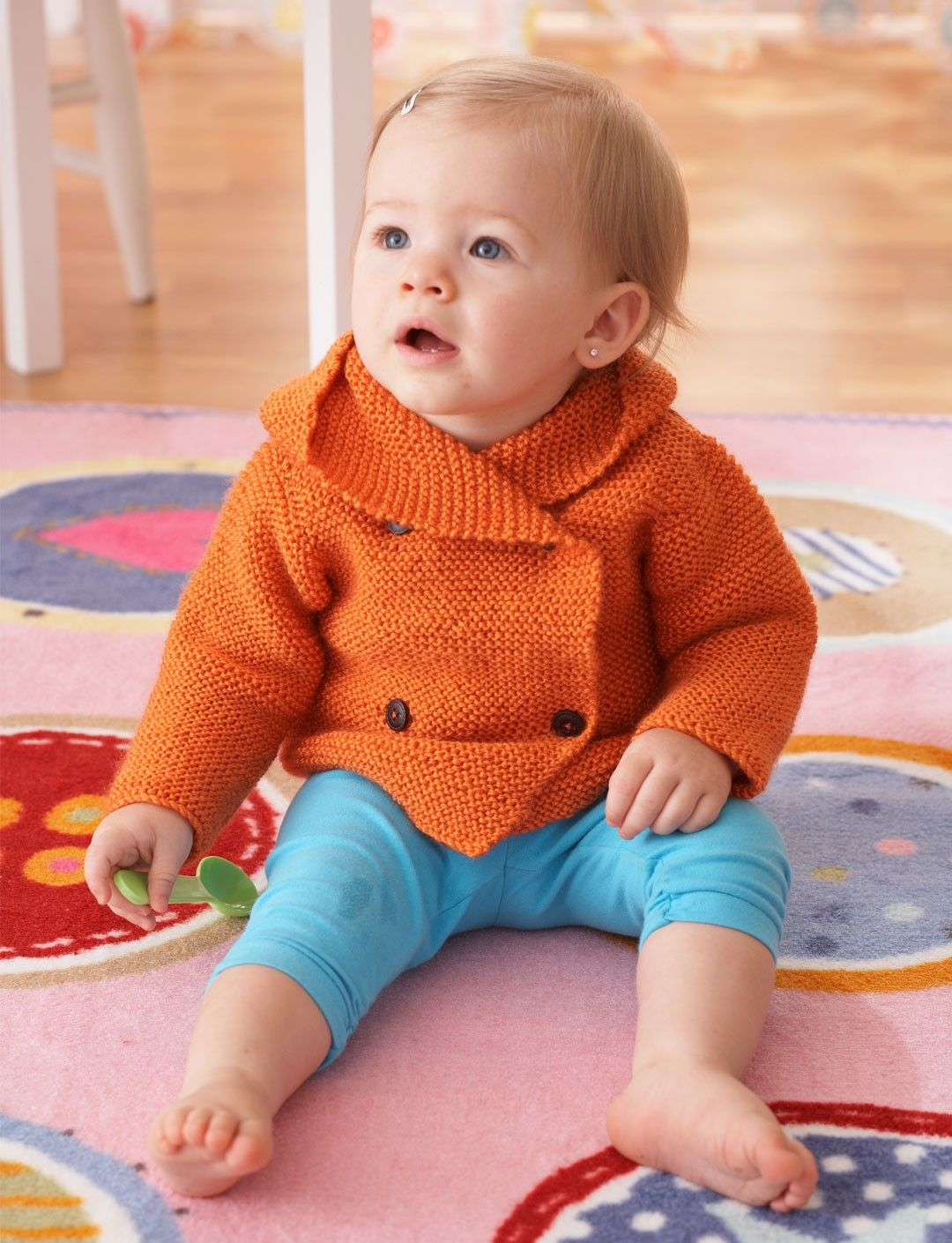 f2aa53620e39 Garter Stitch Hooded Jacket - A great pattern for a buttoned and ...
