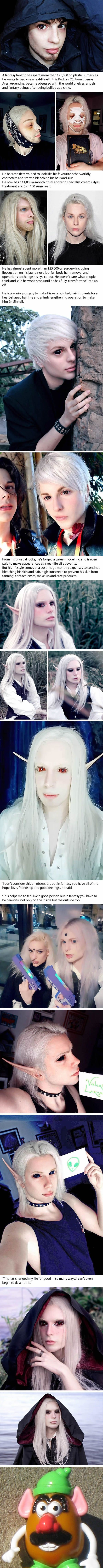 Fantasy fanatic splashes k on plastic surgery to look like an elf