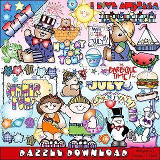 July Dazzle Clip Art Download Clip Art Downloadable Art Art