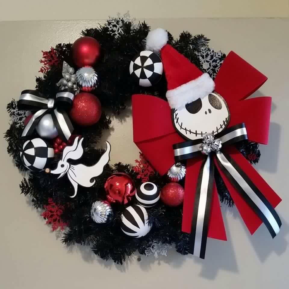 Nightmare Before Christmas wreath | Halloween: Nightmare Before ...