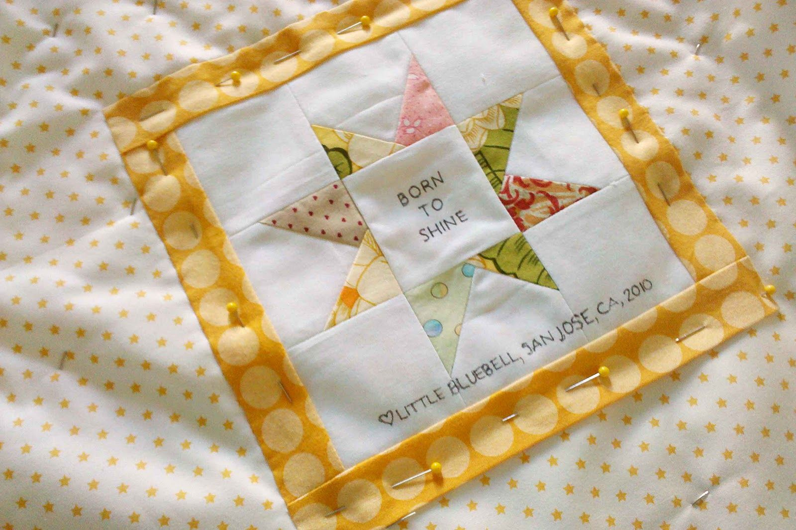 Little Bluebell: Born to Shine #quilt #label
