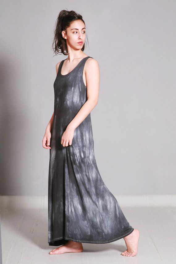 Long tie dye summer dress