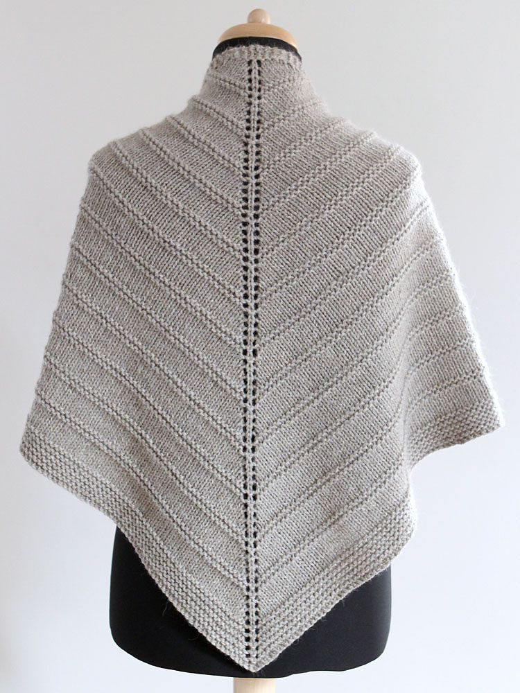 Skoosh! is worked in one piece, top-down with Aran weight wool ...