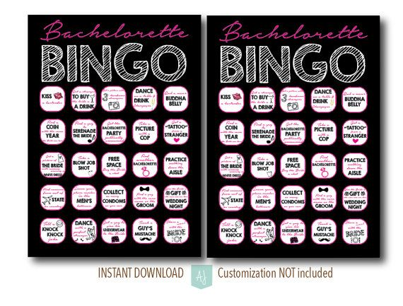 Printable drinking game for the bachelorette party. Simply download and print. Click through for matching invites, decorations, and more. Or shop our 1000+ designs for all of life's journeys. Shop for anniversaries, birthdays, weddings, and more. If you celebrate it, we can design it. Only at Aesthetic Journeys.