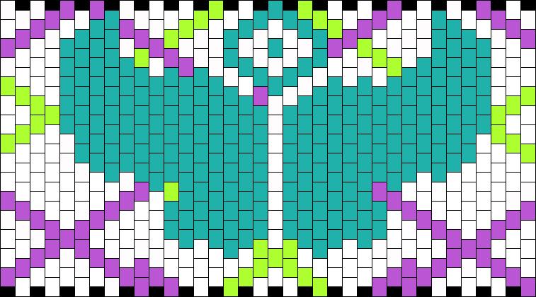 TomorrowLand Cuff 2 Kandi Pattern | Diy Brazaletes | Pinterest ...