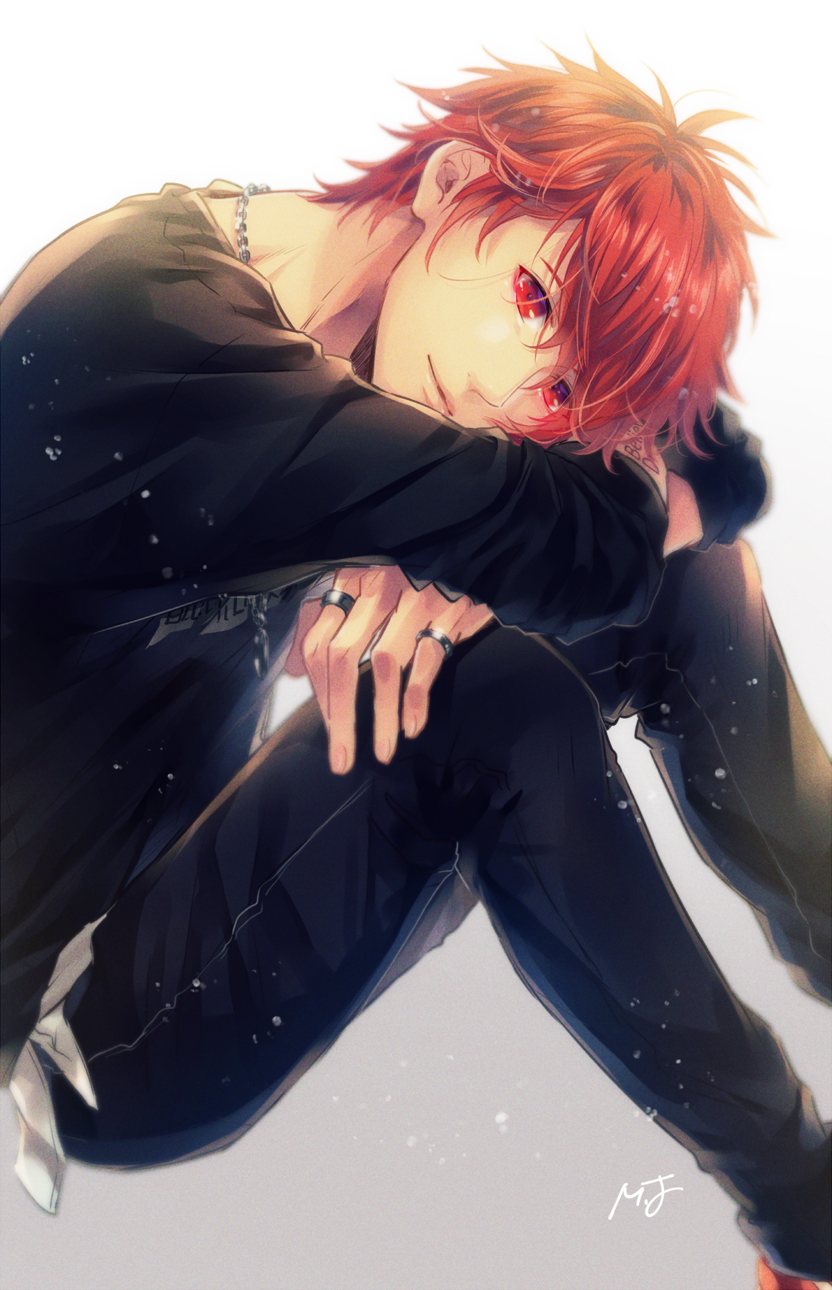 Cute Anime Boy With Red Hair : anime, 今井, Twitter, Anime, Characters,, Hair,
