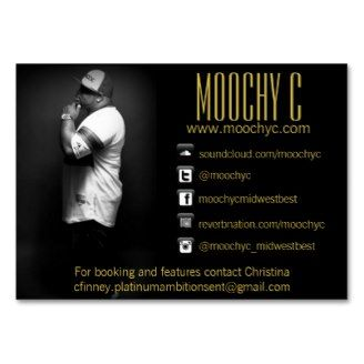 I Created This Card For My Artist Moochy C Its Great Hes Able To Have All Of His Information And Logo On 1 Visit Store JustSassiBusiness