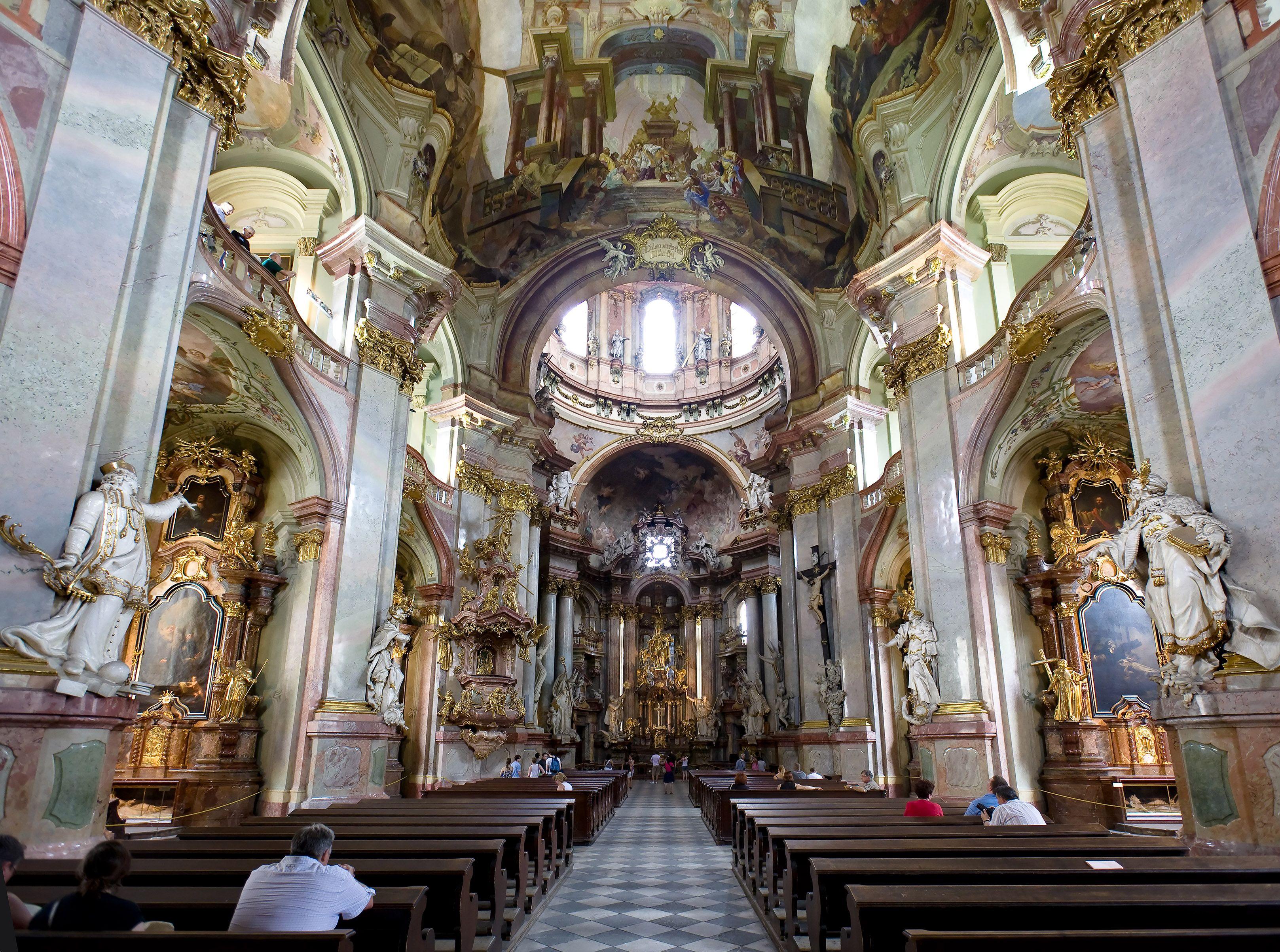 Baroque Architecture Czech Republic Church Of St Nicolas Prague 1703 21 By Christoph Dientzenhofer 1655 1722 With His Father Ignaz Dientzenhofer