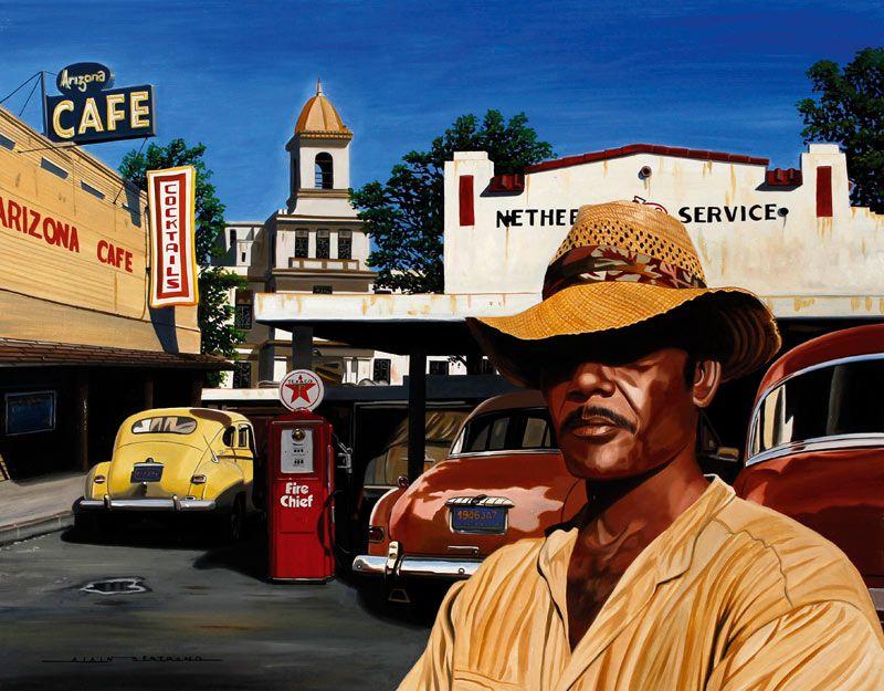 Alain Bertrand (French, born 1946) 'Arizona Cafe'