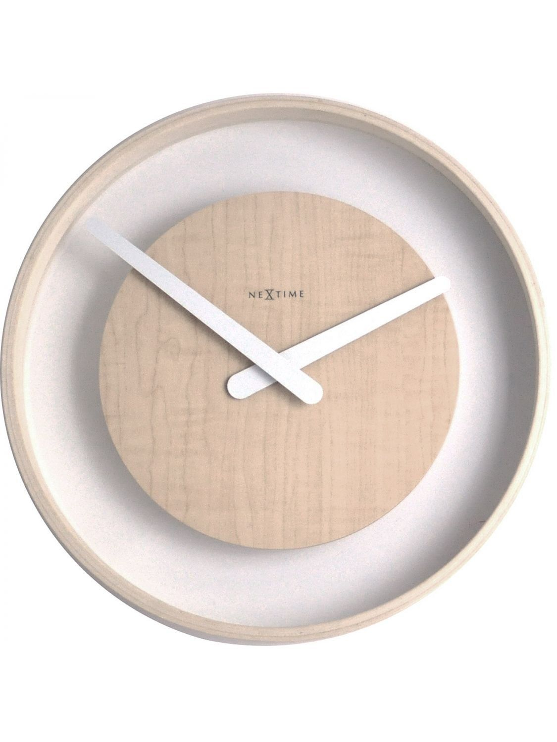 Wood loop wall clock design by nextime madera diseo pinterest wood loop wall clock design by nextime amipublicfo Choice Image