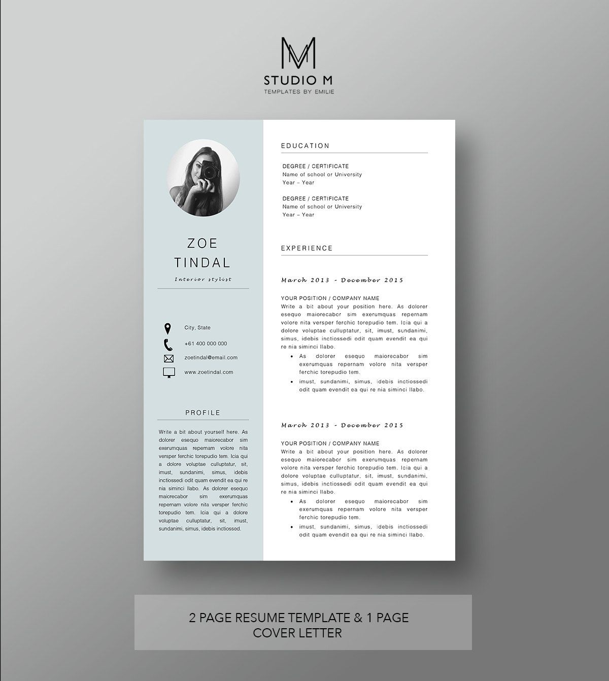 Can My Resume Be Two Pages Resume And Cover Letter Template Professional Microsoft