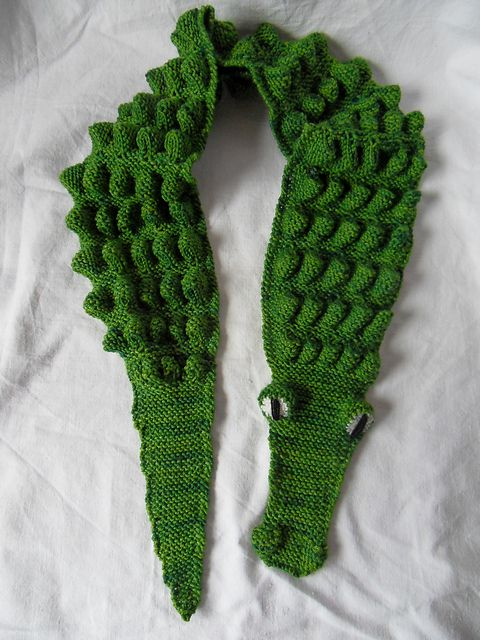 Alligator Scarf Pattern By Mindy Milliron Hollywood Pinterest