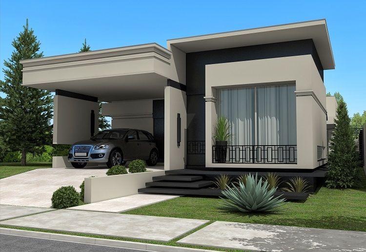 Mj arquitetura casa moderna cinza e 750 516 - Pintura casa moderna ...