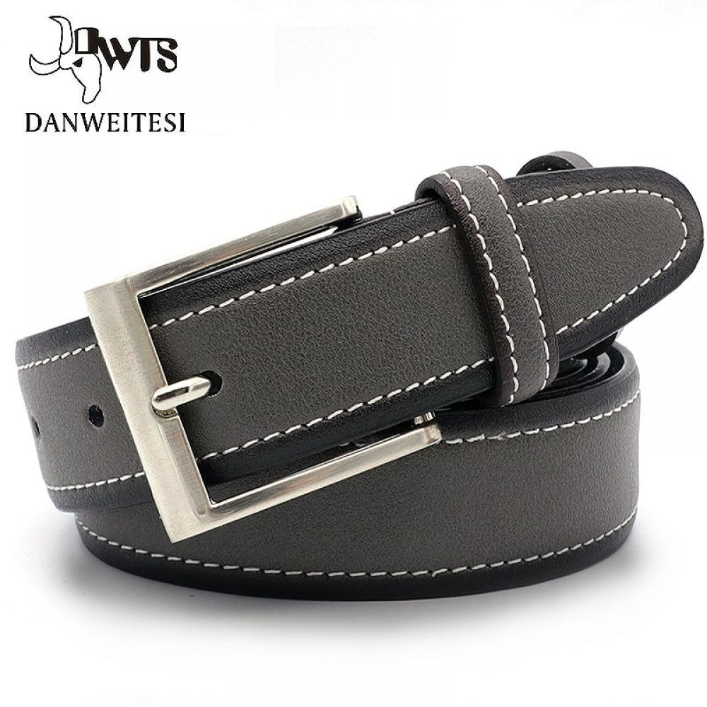 DWTS Belt Male Genuine Leather Strap Belts For Men Top Quality Automatic