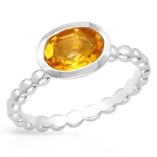 Attractive 925   Silver Ring - Size 6  Size 6. Attractive ring with genuine citrine beautifully designed in 925 sterling silver. Total item weight 2.4g. Gemstone info: 1 citrine, 1.24ctw., with oval shape and yellow color.