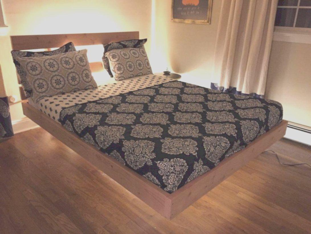 42 Raised Platform Bed Define Sleep Space Easily In 2021 Floating Bed Frame Bed Frame Plans Bed Frame Design