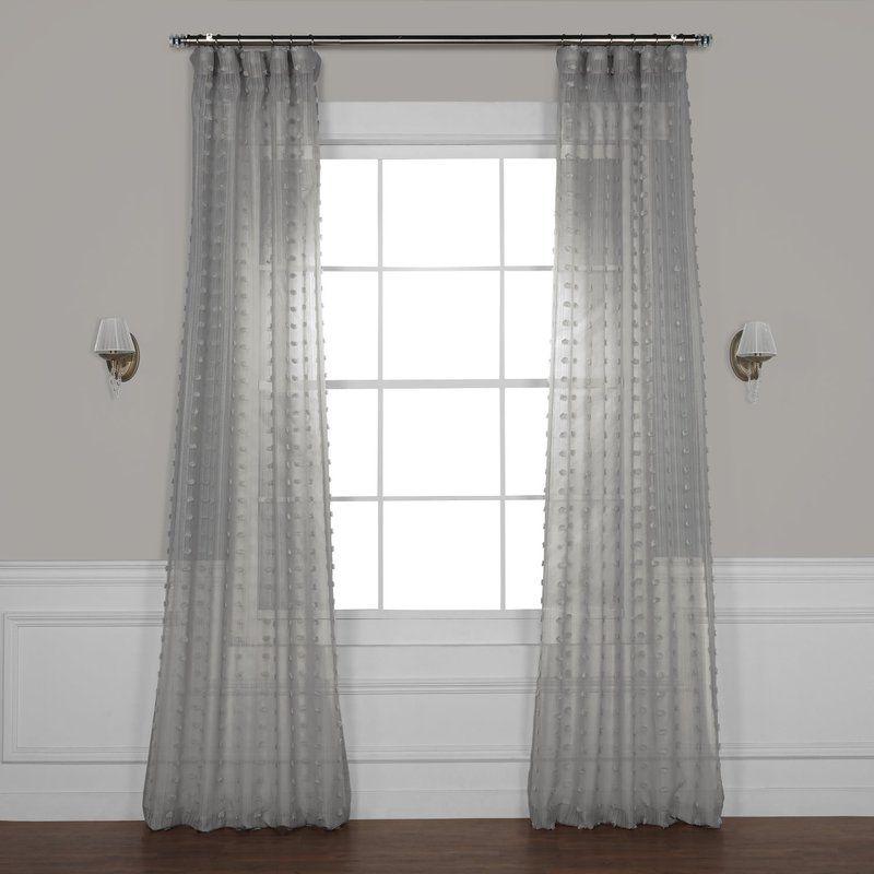 Levesque Sheer Rod Pocket Single Curtain Panel Sheer Linen Curtains Curtains Panel Curtains