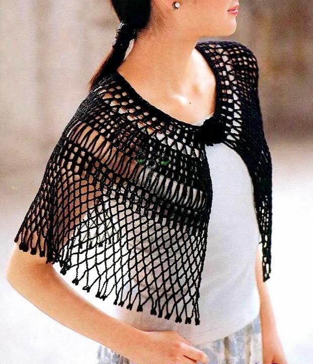 Stylish Easy Crochet: Crochet Lace Cape Pattern For Summer ...