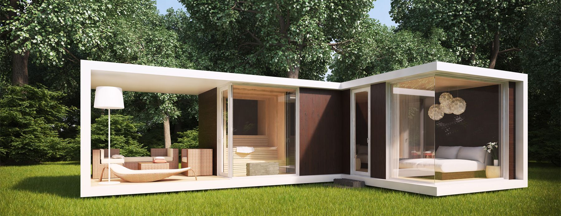 spa cube modulares bauen pre fab container architektur pinterest gartenh tte. Black Bedroom Furniture Sets. Home Design Ideas