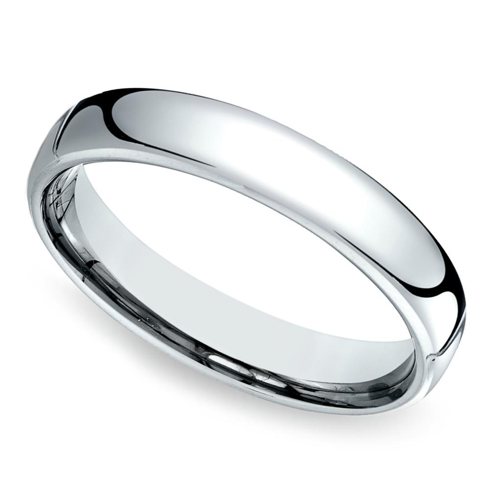 Comfort Fit Men's Wedding Ring In Cobalt (4.5mm) Mens