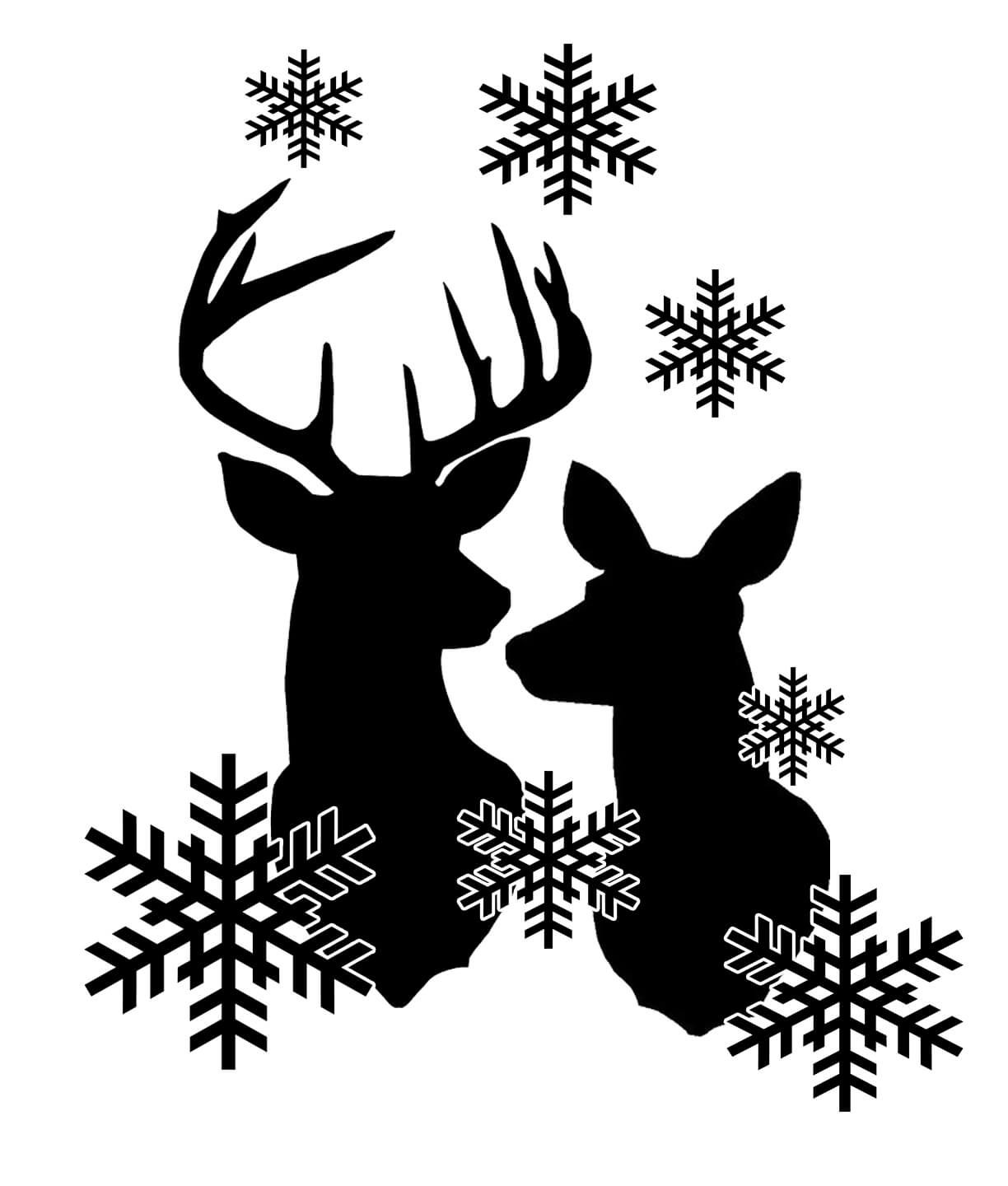 Download Free Reindeer Snowflakes SVG File | Christmas svg, Cricut ...