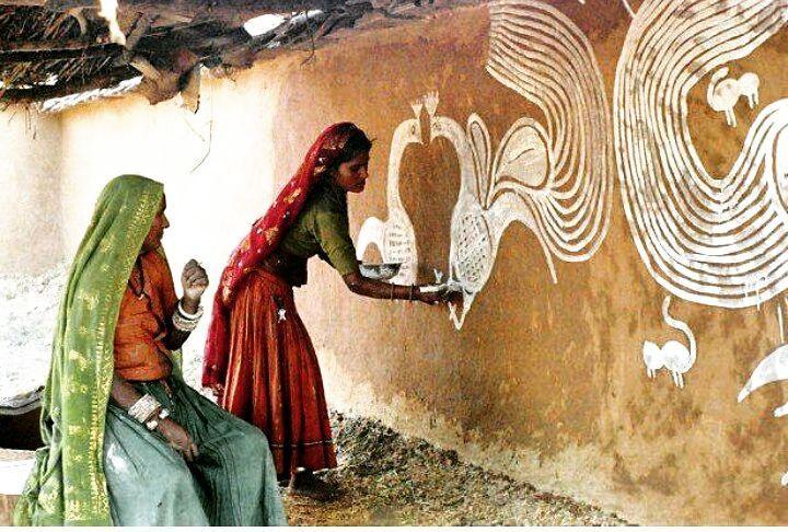 Mandana Art Rajasthan Art For Real Keeping The Heritage