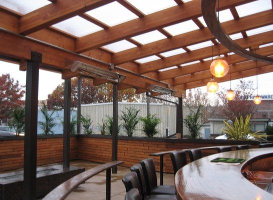 outdoor dining weather proof glass room glass roof shelter bar seattle ballard. Black Bedroom Furniture Sets. Home Design Ideas