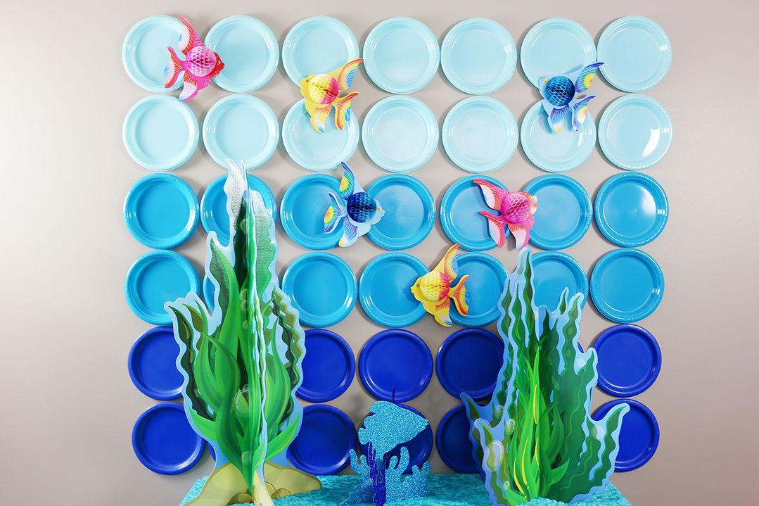 Diy Under The Sea Bubble Backdrop Bubble Guppies Birthday Party