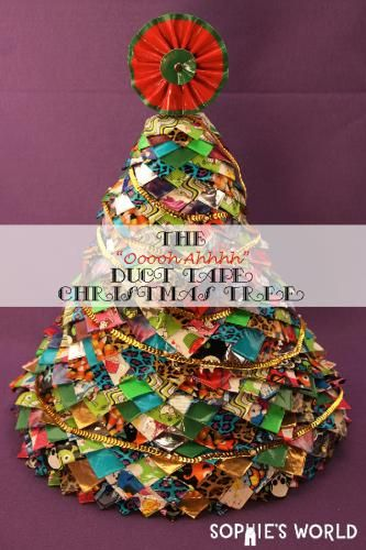 An Amazing Duct Tape Christmas Tree Sophie S World Holiday Christmas Tree Christmas Diy Duct Tape
