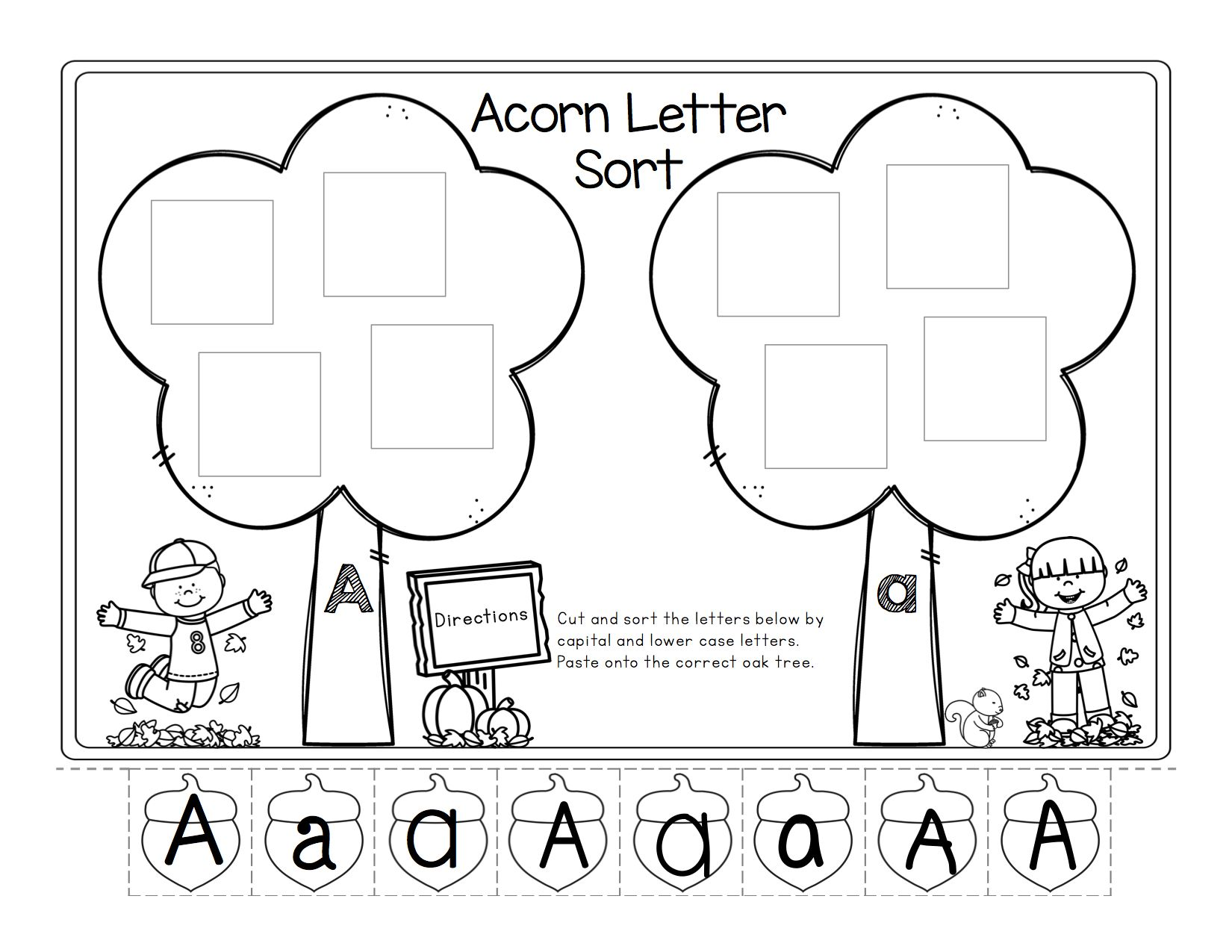 Letter Sort Amp Alphabet Match Fall Themed