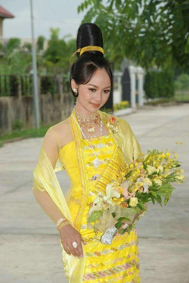 Myanmar Wedding Dress | Myanmar Wedding Dress | Pinterest | Burmese ...