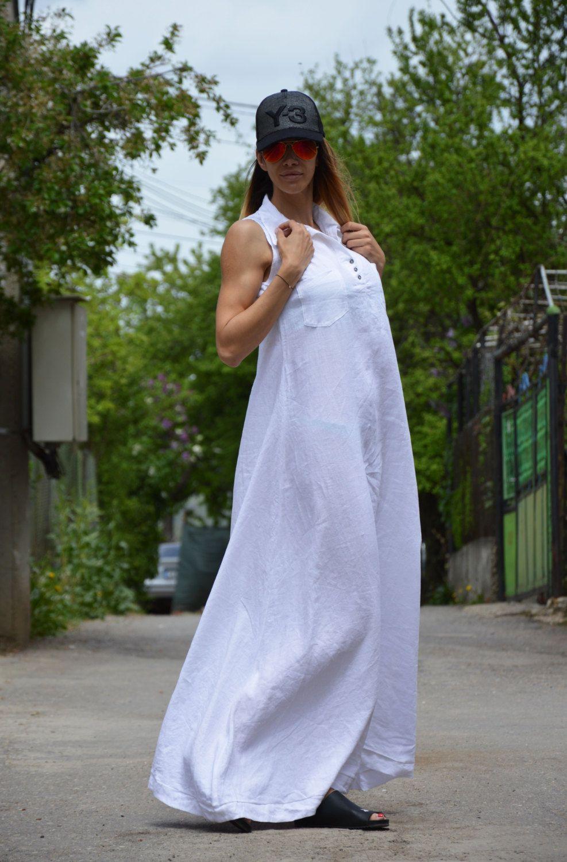 Plus Size Dress Summer Linen Dress Maxi Dress Women Dresses Elegant White Kaftan Cotton Dress Ladies Maxi Dress Summer Linen Dresses Womens Maxi Dresses [ 1500 x 987 Pixel ]