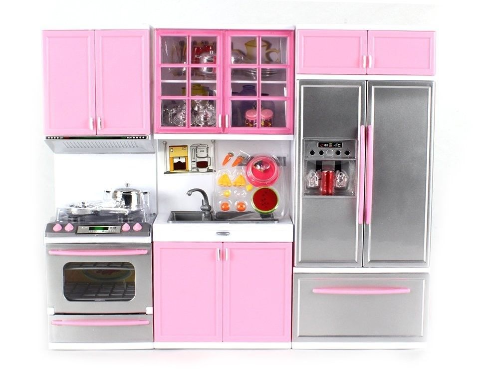 New Kitchen Play Set Toy For Kids Toddler Girl Cook Hostess Battery
