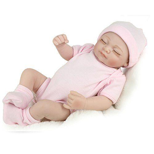 "10/"" Girl Full Vinyl Newborn Baby Lifelike  Baby  Dolls Toys Reborn Dolls Baby Ha"