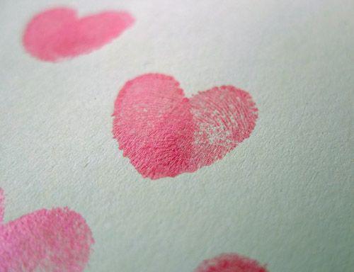 Valentine S Craft Fingerprint Love Hearts Valentine Crafts