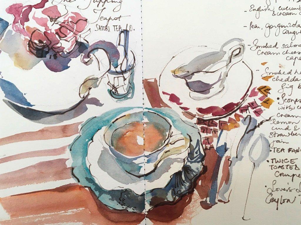 Brown Ink Drawings Painting Art