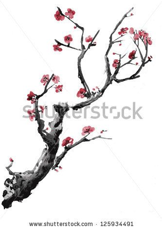 Realistic Sakura Blossom Japanese Cherry Tree Isolated On