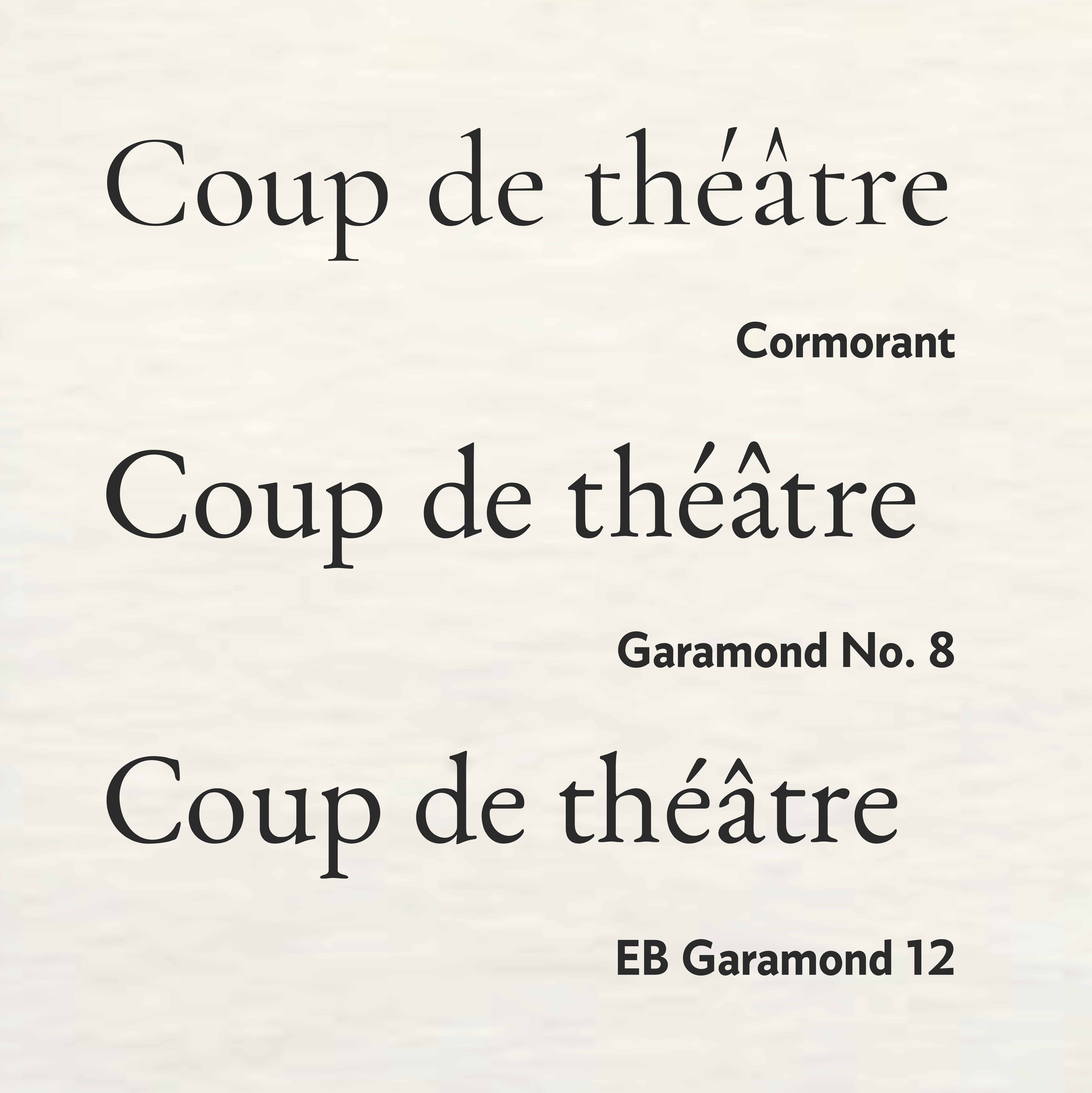 Three free and open source Garamond revivals  | CLAUDE