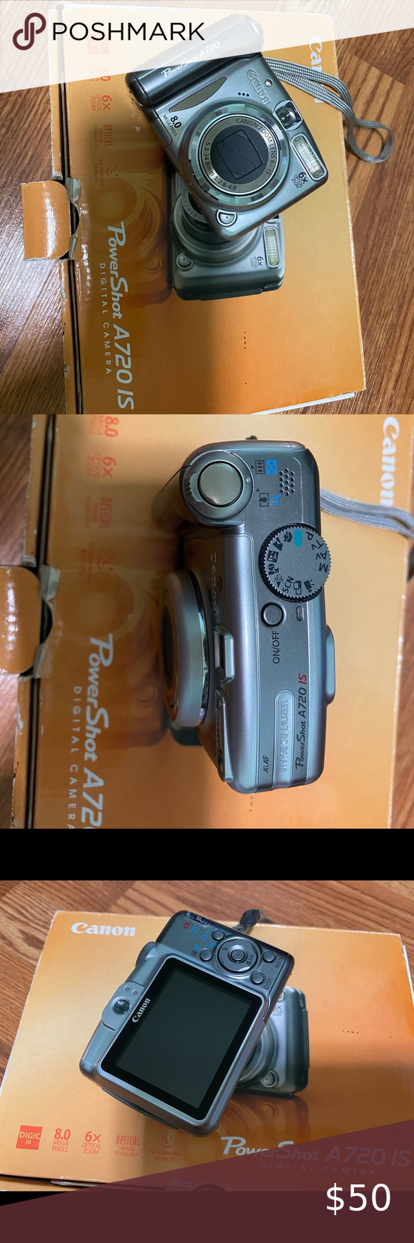 Sold Canon Powershot A720 Is Digital Camera Digital Camera Powershot Canon Powershot