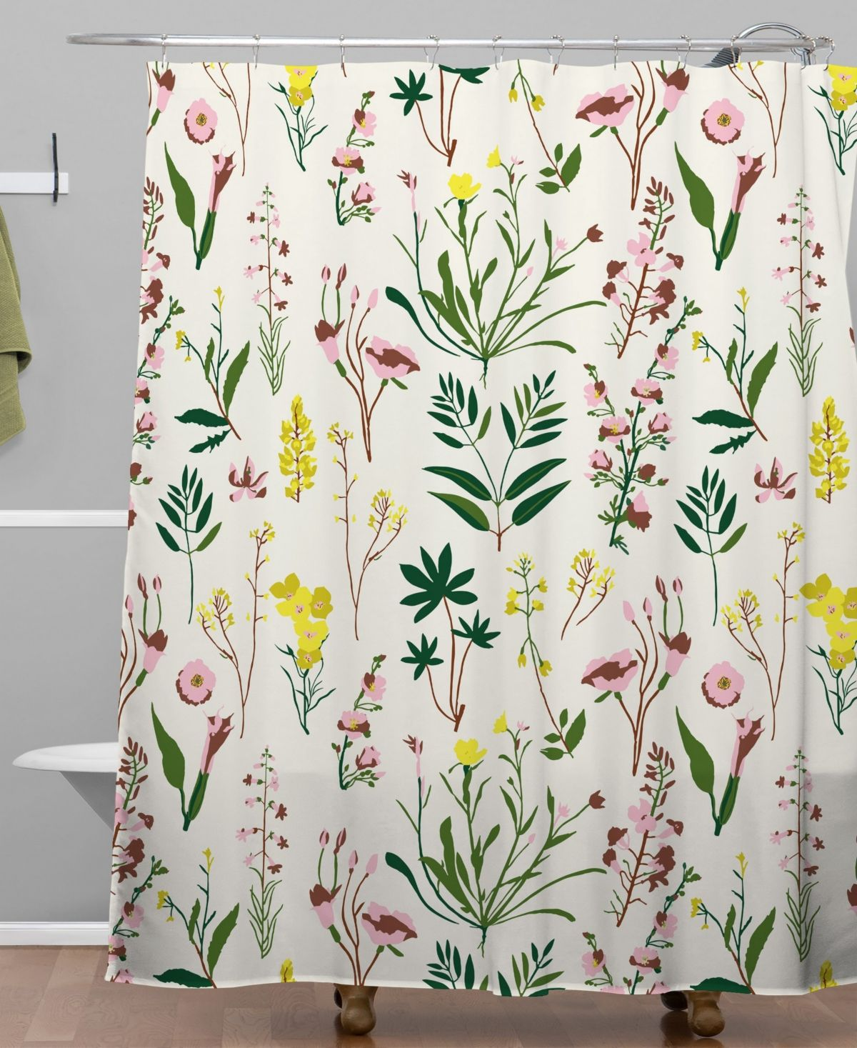 Deny Designs Holli Zollinger Wildflower Study Light Shower Curtain Reviews Shower Curtains Bed Bath Macy S Wildflower Baby Shower Cheap Shower Curtains Curtains