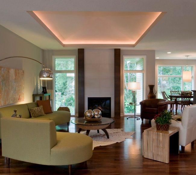 Indirekte deckenbeleuchtung wohnzimmer rosa nuance for Moderne deckenbeleuchtung wohnzimmer