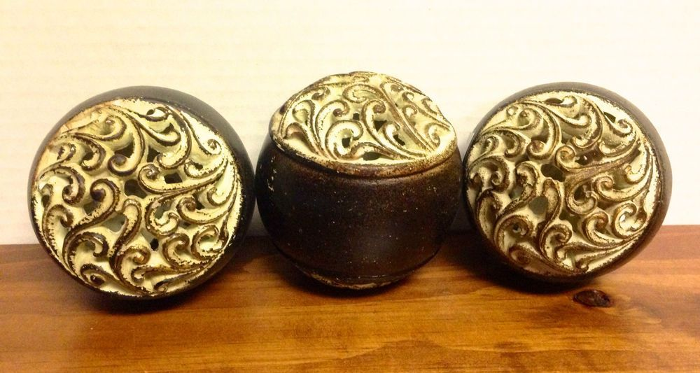 Decorative Scrollwork Orbs - Set of 3