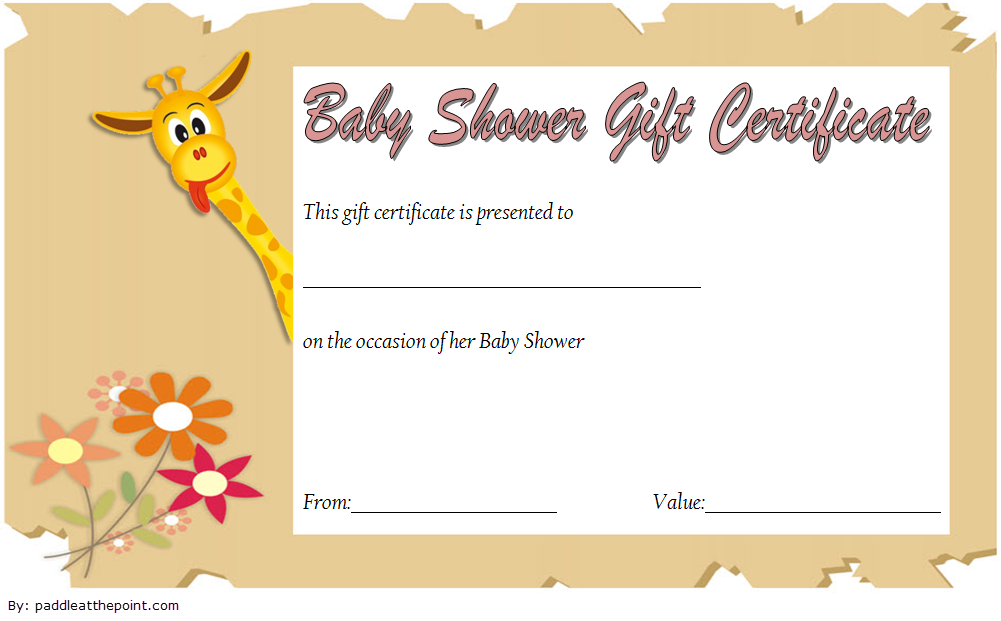 Baby Shower Gift Certificate Template Free 1 Gift Certificate Template Baby Shower Gifts Certificate Templates